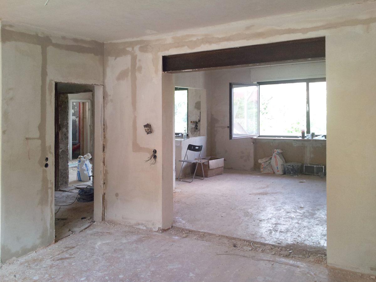 wanddurchbruch tragende wand durchbrechen und entfernen. Black Bedroom Furniture Sets. Home Design Ideas
