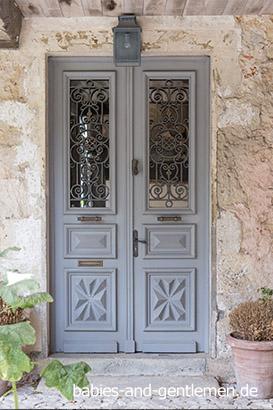 Labastide-d'Armagnac: dekorative Tür