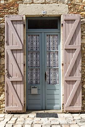 dekorative Tür in Labastide-d'Armagnac