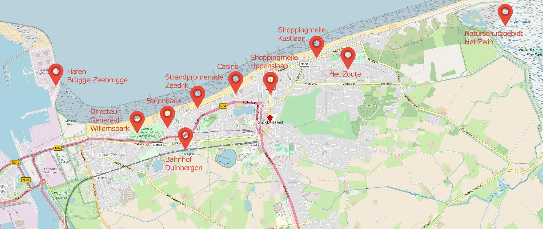 Knokke-Heist Karte Map