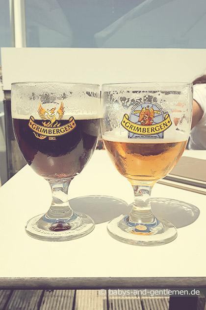 Belgisches Bier: Grimbergen blonde und bruin in Knokke-Heist